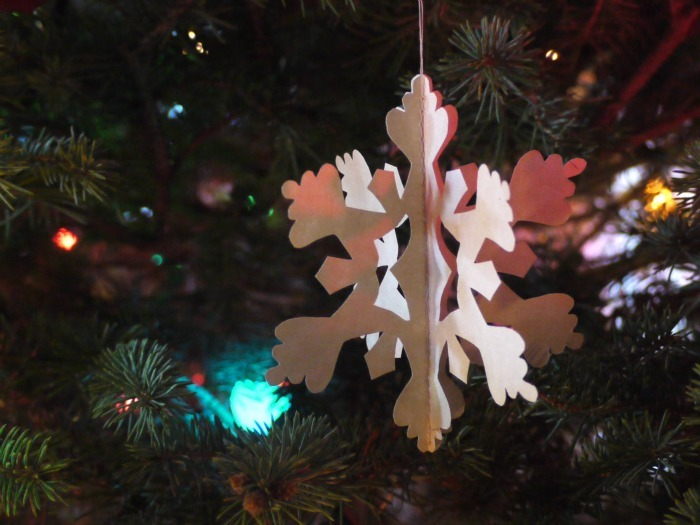 Three-dimensional paper ornaments can be quick and easy, or extremely intricate. Either way, they are a beautiful addition to your Christmas tree.