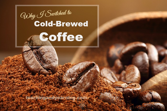 Cold-brewed coffee is a strong extract of coffee made from course-ground coffee and water. Cold-brewed coffee is chemically different than hot-brewed in that it is less acidic, less bitter, easier to digest, and gentler on your stomach.