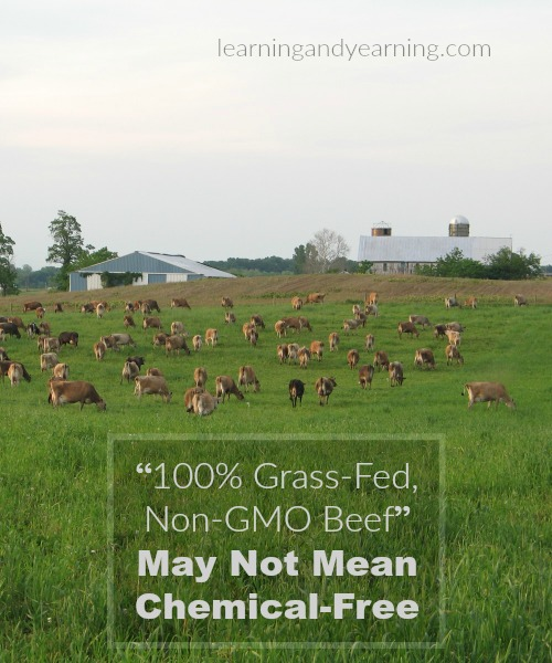 Just a word of caution from one of my farmers: know what questions to ask because that 100% grass fed beef may not be chemical-free.