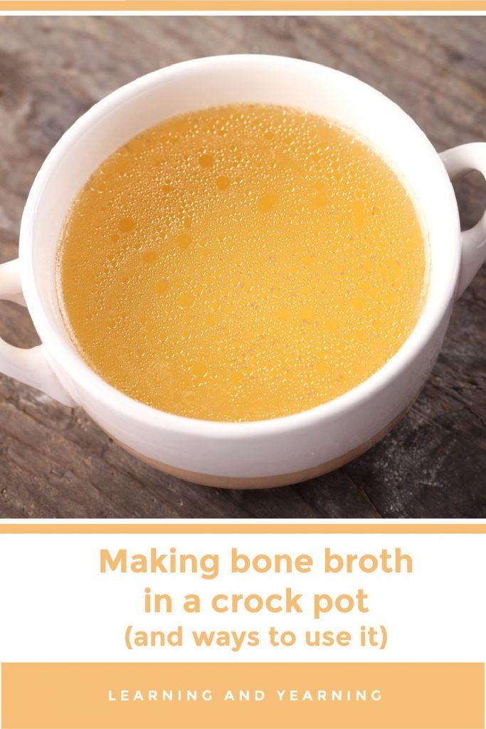 How to make bone broth in a crockpot (and ways to use it)!