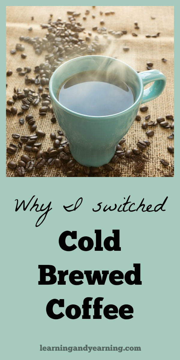 Cold brewed coffee is a strong extract of coffee made from course-ground coffee and water. I love my coffee strong, and I love my coffee hot, so that means that I need a much stronger extract than the typical recipe provides. If you like a strong, hot cup of coffee, too, here's I do it.