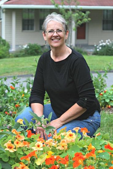 Susan in garden