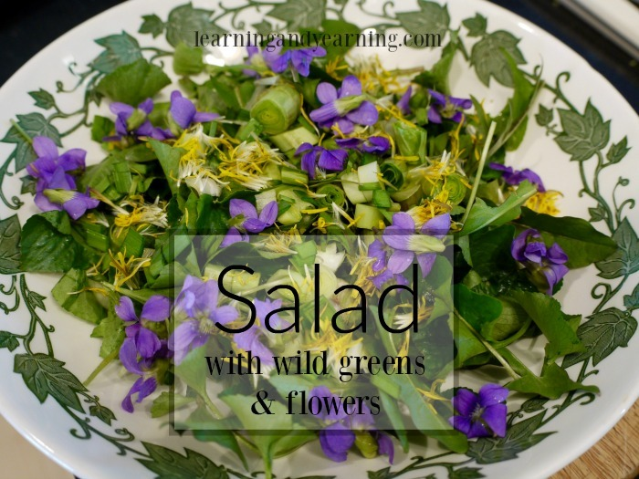 Spring is a wonderful time to gather wild greens and flowers for refreshing salad. It's simple and nutrient-dense.