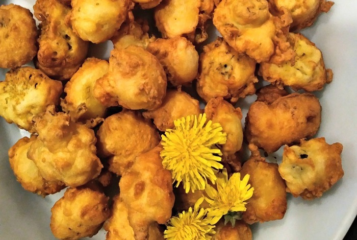 Dandelion Flower Fritters | 16 Amazing Dandelion Recipes To Make From Your Pulled Weeds