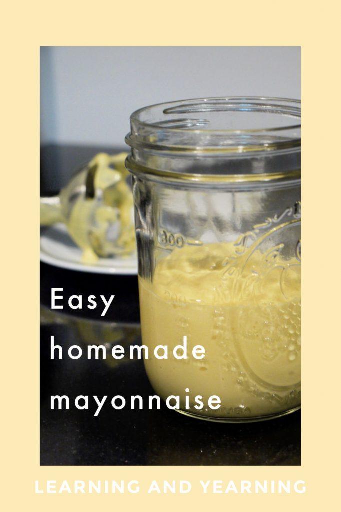 Easy, homemade mayonnaise recipe!