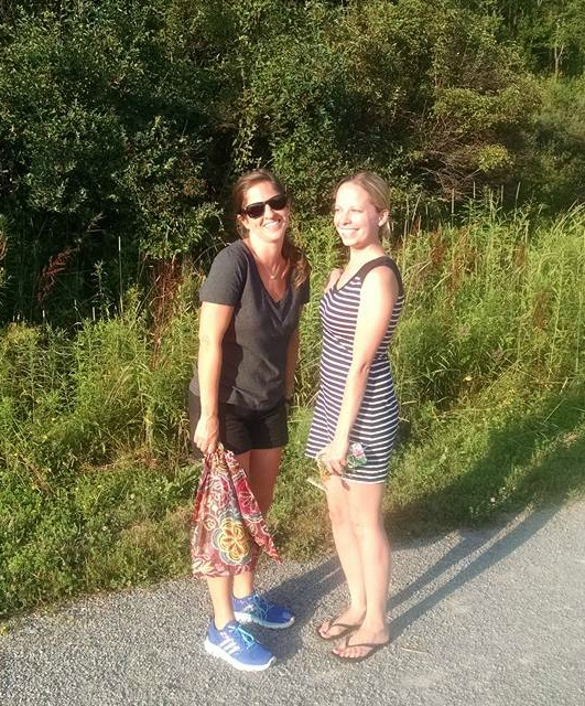 Jenny and Samantha - two of my awesome nieces - on a foraging walk.
