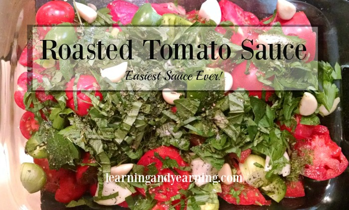 Do you love meals with tomato sauce? Then you'll love making roasted tomato sauce. It's truly delicious, and the easiest sauce yet!