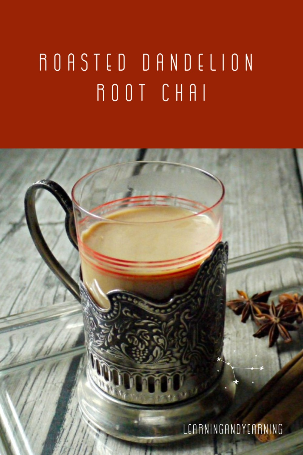 Roasted dandelion root chai!
