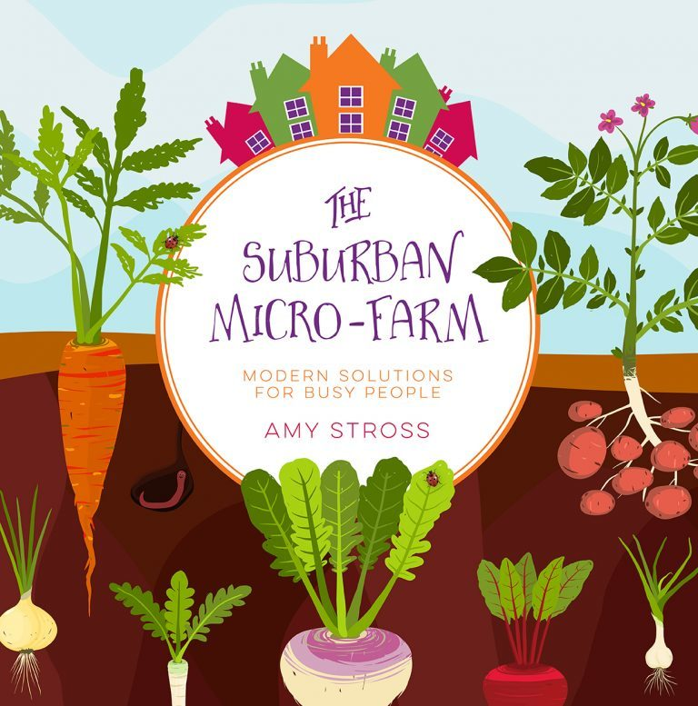 The Suburban Micro-Farm by Amy Stross is full of valuable advice for all levels of gardener. Learn not only how to grow a garden but how to earn an income!