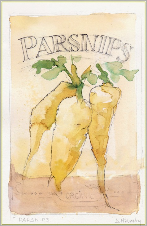 parsnips illustration from The Art of Gardening: Building Your Soil eBook