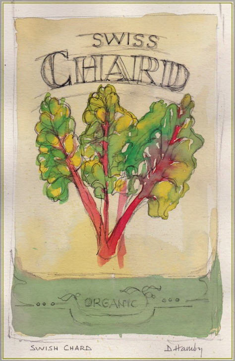 Swiss chard - vegetables that grow in shade - illustration from The Art of Gardening: Building Your Soil eBook