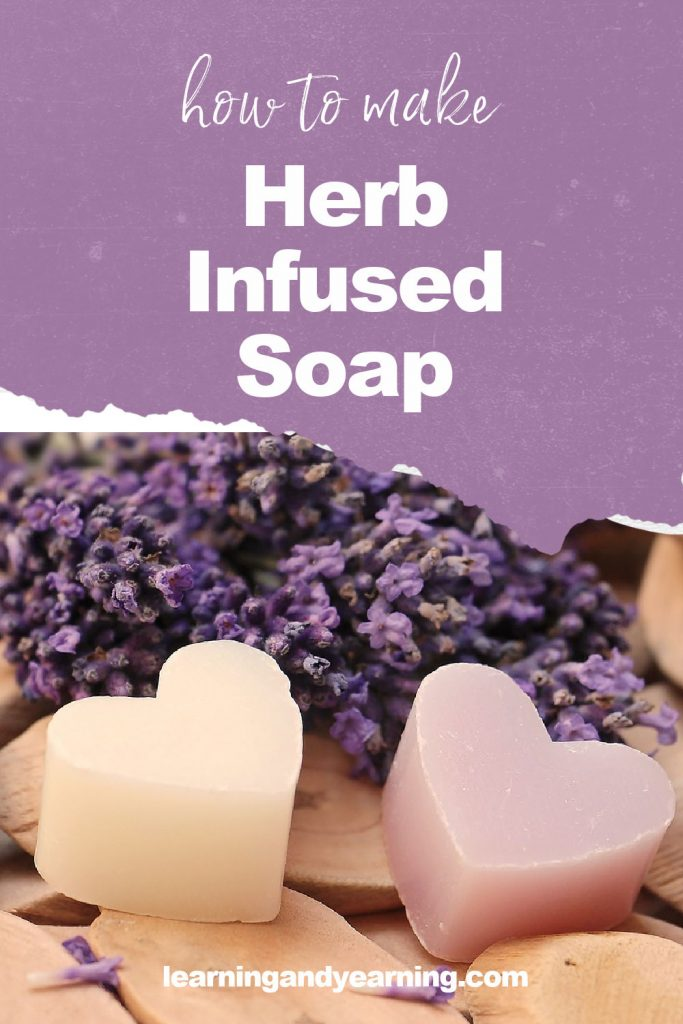 Homemade herb-infused soap!
