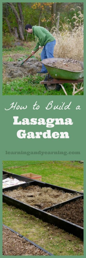For the past 8 years we've taken our garden from good to great with a style of gardening that has been labeled lasagna gardening. Also known as sheet composting, a lasagna garden is built by layering organic materials which eventually will decompose into wonderful garden soil.