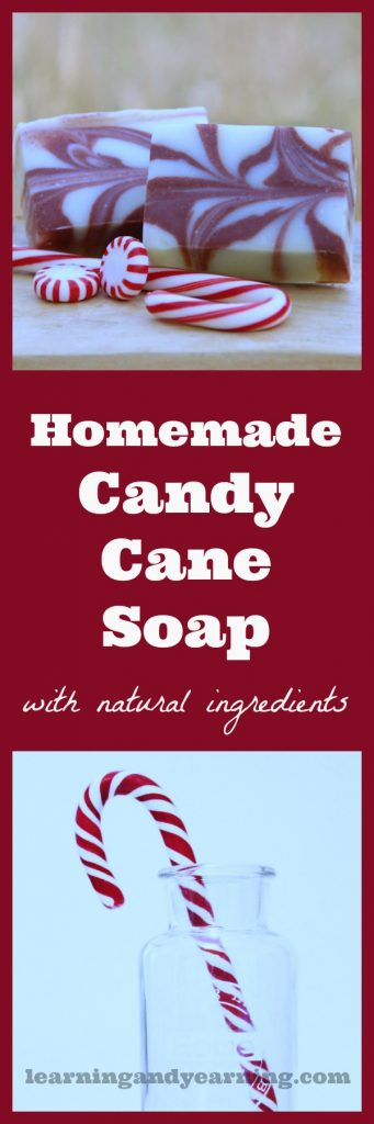 Scented with peppermint essential oil, homemade candy cane soap is perfect for Christmas gift-giving. And it's made with all natural ingredients!