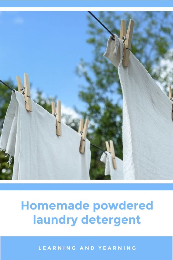 Homemade powdered laundry detergent!