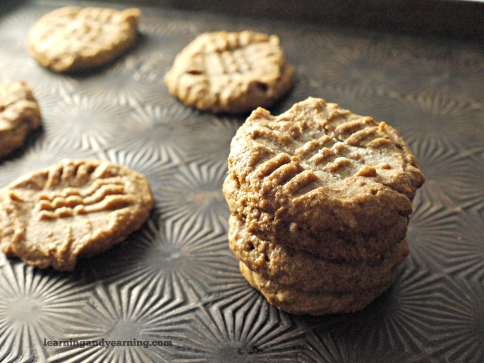 sprouted almond butter cookies