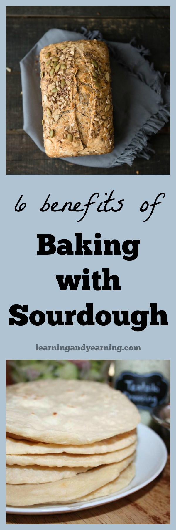 Sourdough...chances are you've either tried sourdough bread yourself, or you know someone who bakes with it. But are you familiar with the benefits of baking with sourdough? Sourdough recipes are more digestible, healthier and much less expensive than their commercial yeast counterparts.