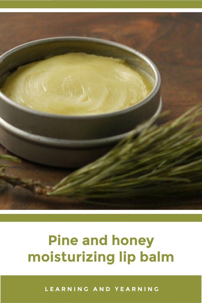 Pine and honey moisturizing lip balm!