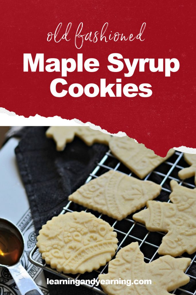 Old fashioned maple syrup cookies!