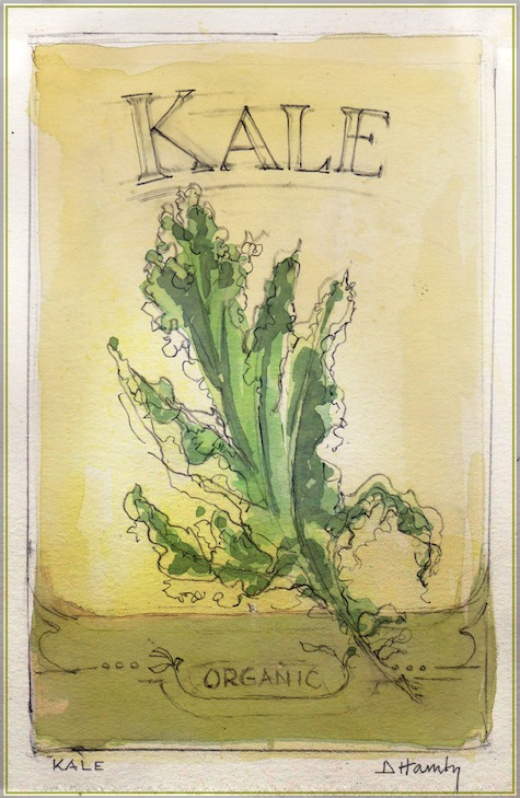 Kale illustration from The Art of Gardening: Building Your Soil eBook