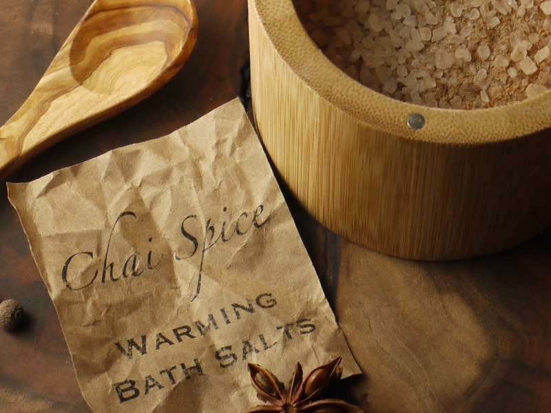 chai spice bath salts