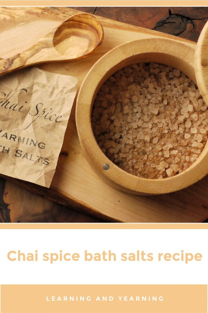 Chai spice bath salts!