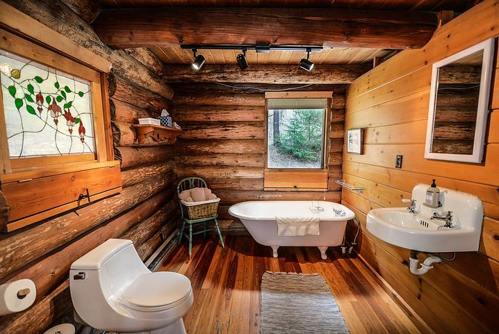 log bathroom