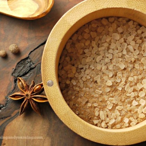 warming bath salts with chai spice