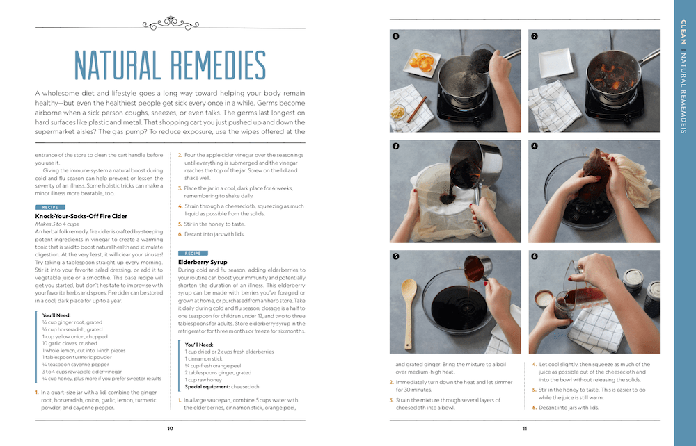 Natural Remedies page of Attaninable Sustainable book