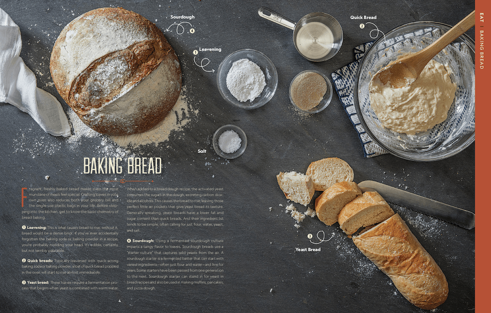 Bread baking page from Attainable Sustainable book