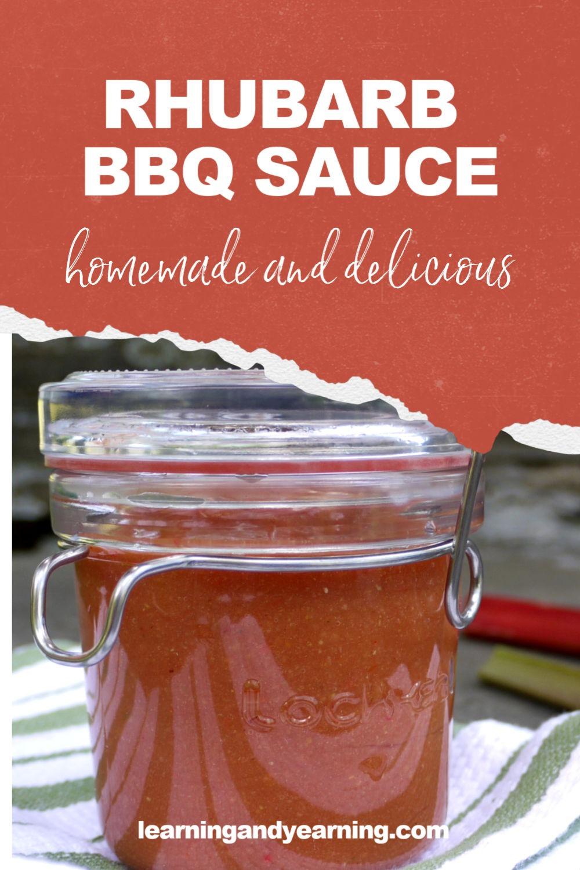 Homemade rhubarb bbq sauce!