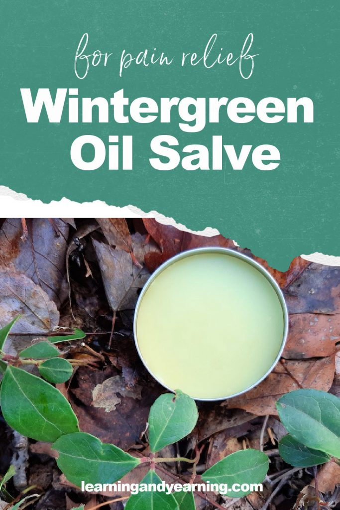 Pain relieving wintergreen oil salve!