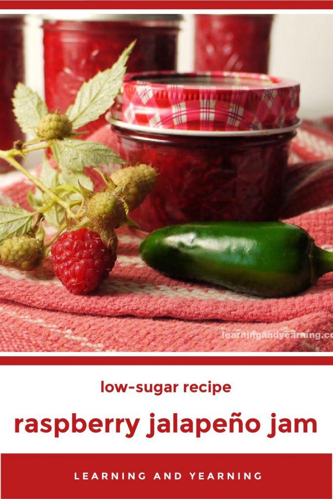 Delicious low-sugar raspberry jalapeño jam!
