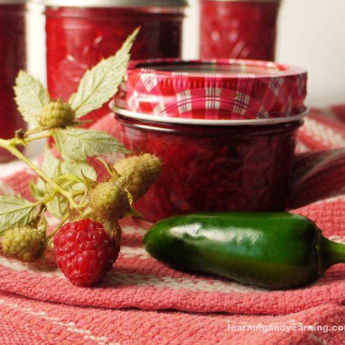 low sugar raspberry jalapeño jam